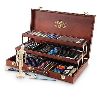 Artists 134 Piece Sketch And Draw Deluxe Art Set By Royal