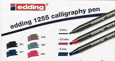 Edding 1255 Calligraphy Pen Italic Pens Fine Medium Broad
