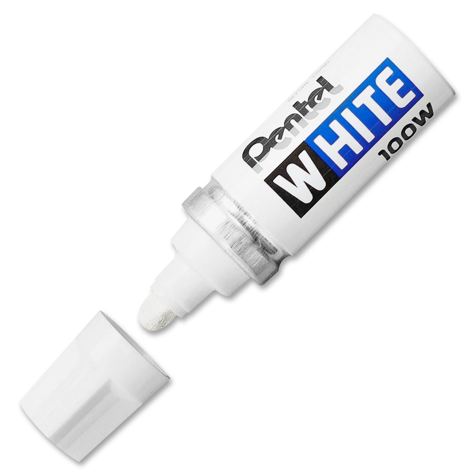 PENTEL WHITE 100W MULTI PURPOSE PERMANENT MARKER PEN Pack Of 3