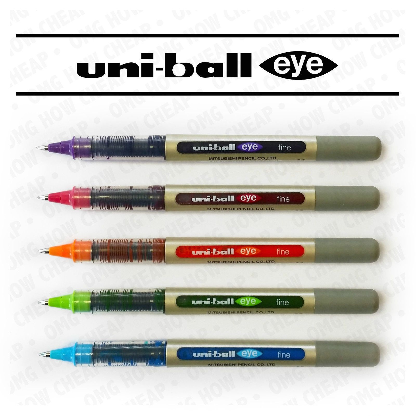UNI-BALL EYE ROLLERBALL PEN UB-157 5 PEN SET TROPICAL ...