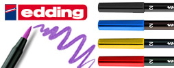 10 x EDDING 1340 ARTISTS BRUSH FELT TIP PEN with Flexible Brush Style Tip