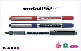 3 x UNI-BALL EYE UB-150 MICRO 0.5mm TIP ROLLERBALL PEN by Colour or Mixed Set