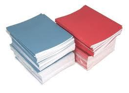 4 x SCHOOL EXERCISE BOOKS BLUE COVER 8mm LINES with Margin 48 Page 160 x 200mm