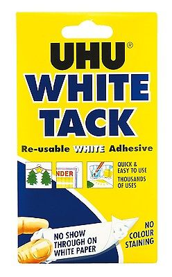 4 x UHU WHITE TACK HANDY 50g - RE-USABLE WHITE ADHESIVE LIKE BLU TACK BLUE TACK