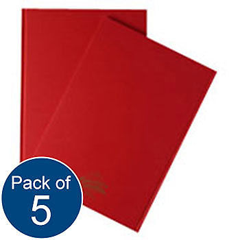 5 x MANUSCRIPT BOOK A4 192 PAGE/96 LEAF LINED HARDBACK NOTEPAD JOTTER NOTEBOOK