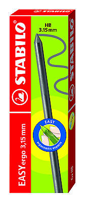 6 STABILO EASYergo 3.15mm HB MECHANICAL PENCIL REFILL LEADS