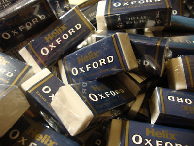 80 x HELIX OXFORD PLASTIC RUBBER ERASERS Like Staedtler Mars