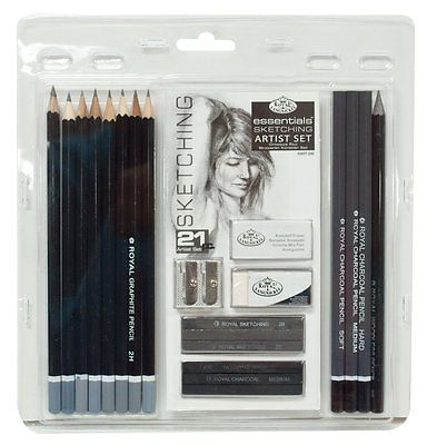 ARTISTS 21 PIECE SKETCHING ART SET BY ROYAL & LANGNICKEL