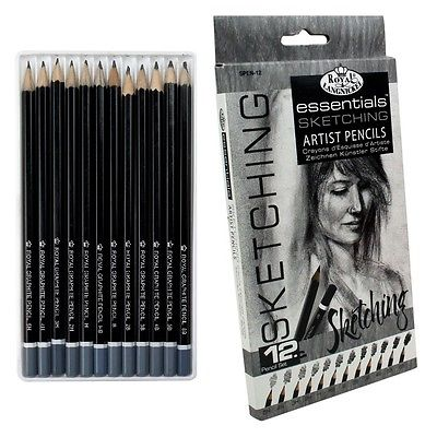 ARTISTS PACK OF 12 SKETCHING PENCILS BY ROYAL & LANGNICKEL