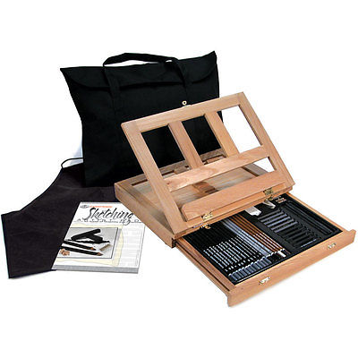 ARTISTS SKETCHING EASEL ART SET WITH EASY TO STORE BAG BY ROYAL & LANGNICKEL