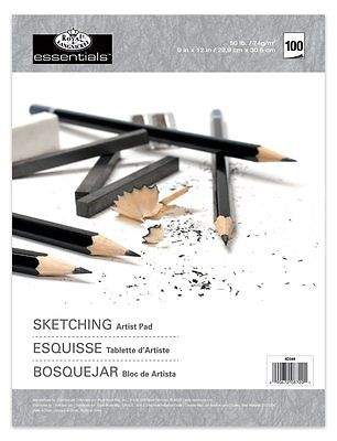 ESSENTIAL SKETCHING ARTIST PAD A4 100 SHEETS by ROYAL & LANGNICKEL