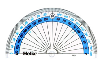 HELIX 10cm 180* PROTRACTOR SCHOOL MATHS
