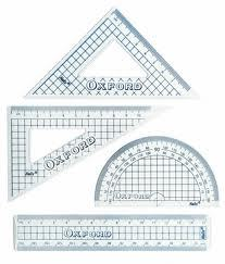 HELIX 15cm MATHS SET GEOMETRY RULER SET SQUARE PROTRACTOR SCHOOL SET