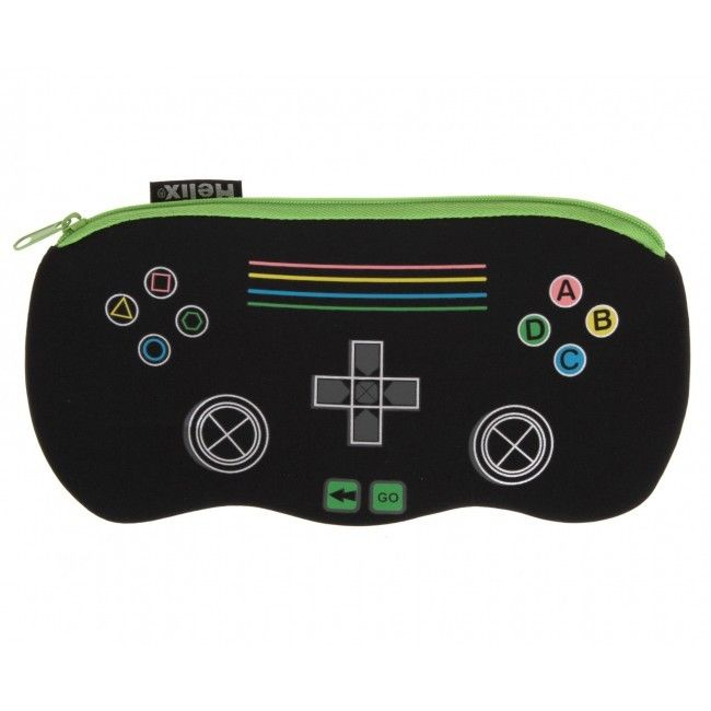 "HELIX ""GAME CONTROLLER"" PENCIL CASE NEOPRENE SINGLE POCKET CASE by Helix"