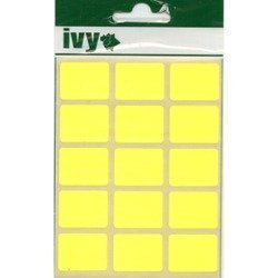 OBLONG STICKY LABELS 19 x 25mm FLUORESCENT YELLOW SELF ADHESIVE STICKERS