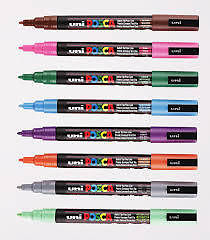 "POSCA MARKER PEN PC-5M ""FULL RANGE 33 Pen Set - All Colours"""