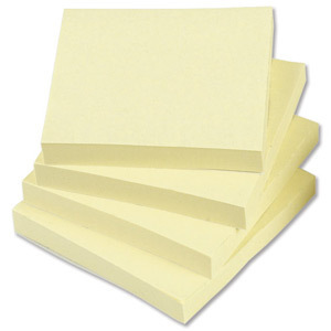 "REMOVABLE STICKY NOTES YELLOW 76 X 76MM 100 SHEETS PER PAD ""PACK OF 12"""