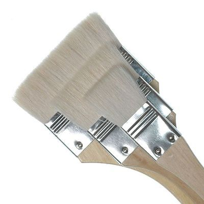 "ROYAL & LANGNICKEL GOATS HAIR FLAT BRUSH SET in 3 ASSORTED SIZES - 1"", 2"", 3"""