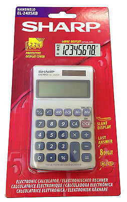 SHARP HAND-HELD / DESK TOP CALCULATOR EL240SAB  8 DIGIT [PACK OF 2]