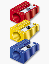 "STAEDTLER JUMBO PENCIL SHARPENER STAEDTLER 11mm 3 COLOURS ""Pack of 3"""