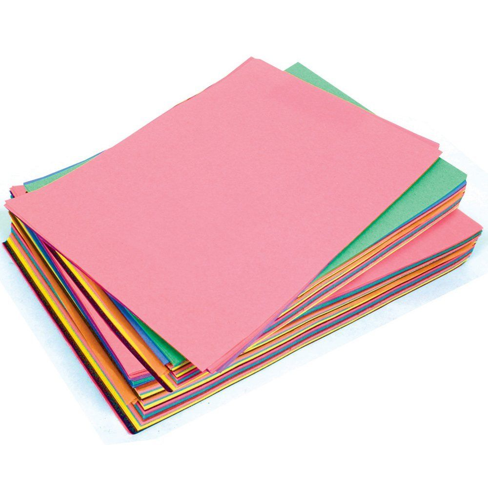 SUGAR PAPER A3 ASSORTED COLOURED PAGES - Pack of 50 Sheets ...